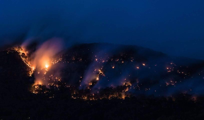 As rain continues not to fall, wildfires continue to burn in the mountains. One of the largest fires burning is the Tellico wildfire, which is now more than 5,100 acres and only 10 percent contained. (Photo credit: WLOS staff)