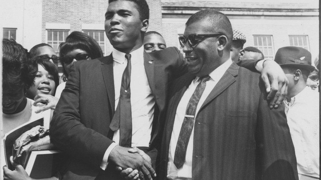 Muhammad Ali and Ed Temple in 1965. (Courtesy Tennessee State University Archives)