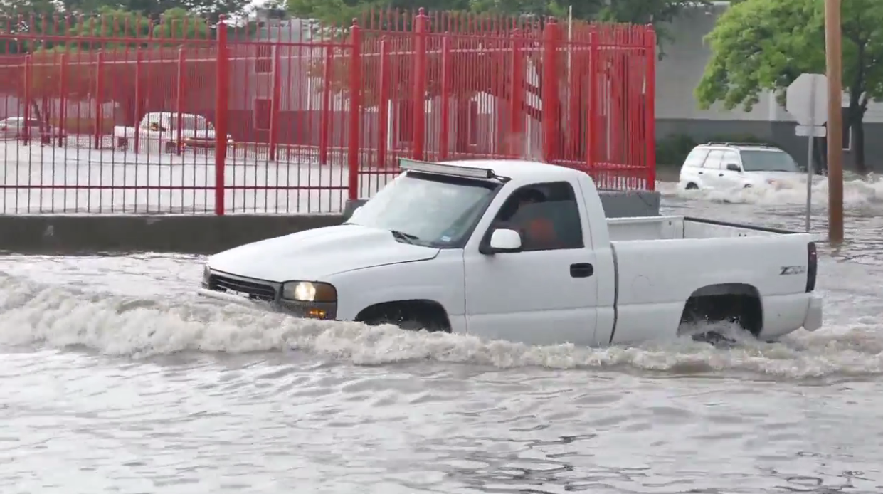 After flash flooding in Amarillo, vehicles could be damaged and consumer advocates warn they could wind up in a used car lot. (ABC 7 Amarillo - Steve Douglass)