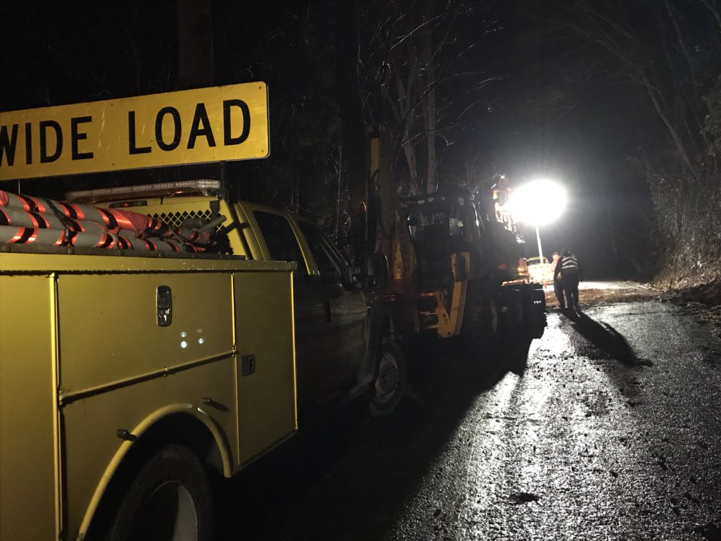 A road in Swannanoa is now back open after heavy rain causes a sinkhole to form. It happened near the 500 block of Long Branch Road in Buncombe County, in the Bee Tree community. (Photo credit: WLOS Staff)