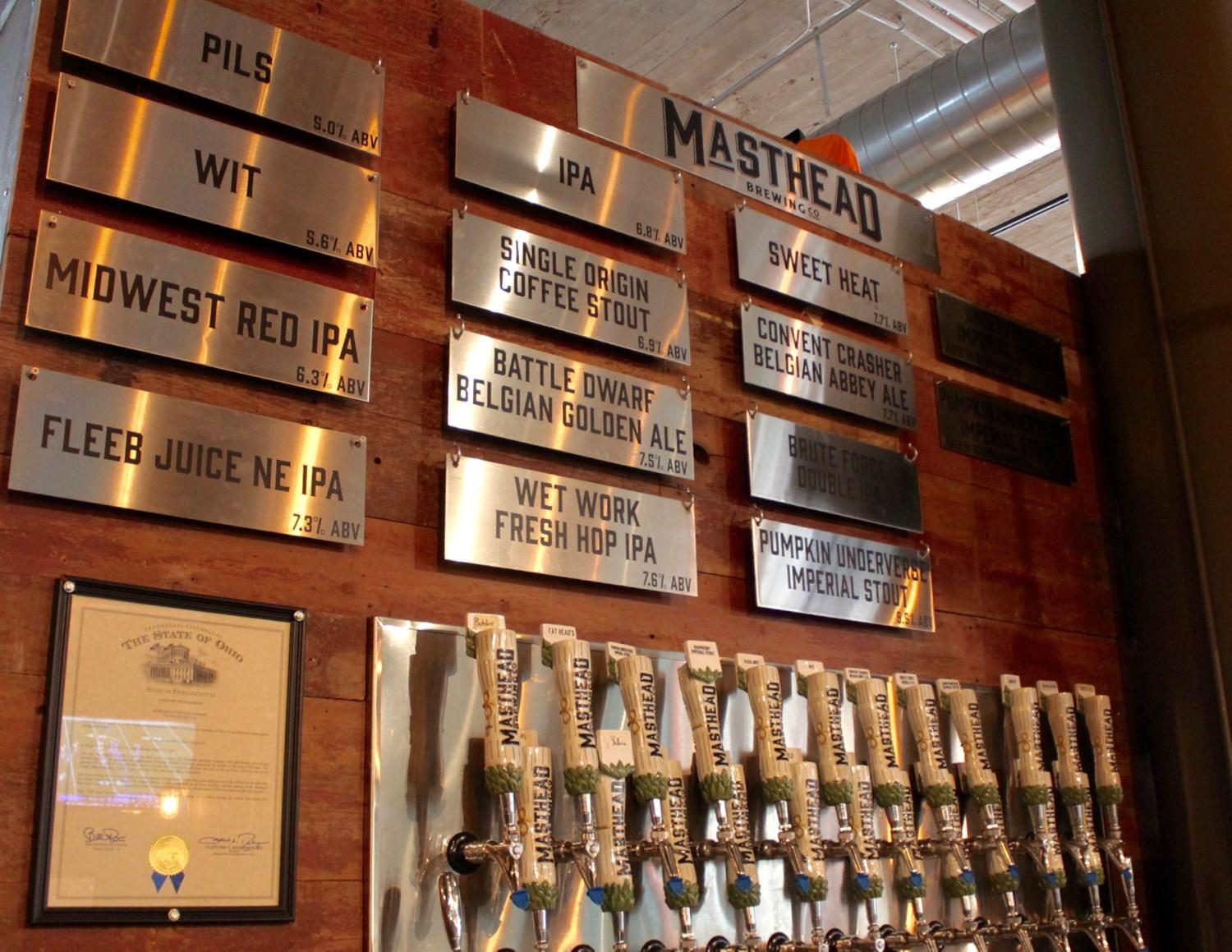 <p>Originally built in 1921 as an automotive dealership in Downtown Cleveland, the building that is now home to Masthead Brewery is actually listed on the National Register of Historic Places. Featured is a full bar and kitchen, which includes their specialty: a 12-inch Neapolitan-style pizza baked in a Marra Forni oven. They focus on brewing American and Belgian Style Beers and also have a barrel-aged beer program, utilizing whiskey barrels from top-rated distilleries. ADDRESS: 1261 Superior Ave., Cleveland, OH 44114 / Image: Rose Brewington // Published: 11.22.17</p>