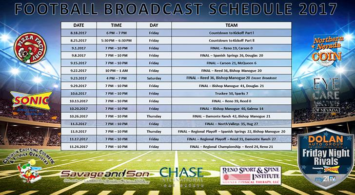 Friday Night Rivals - Football Broadcast Schedule and Updated Scores as of Nov. 28, 2017