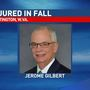Marshall president breaks bone in arm during fall on campus