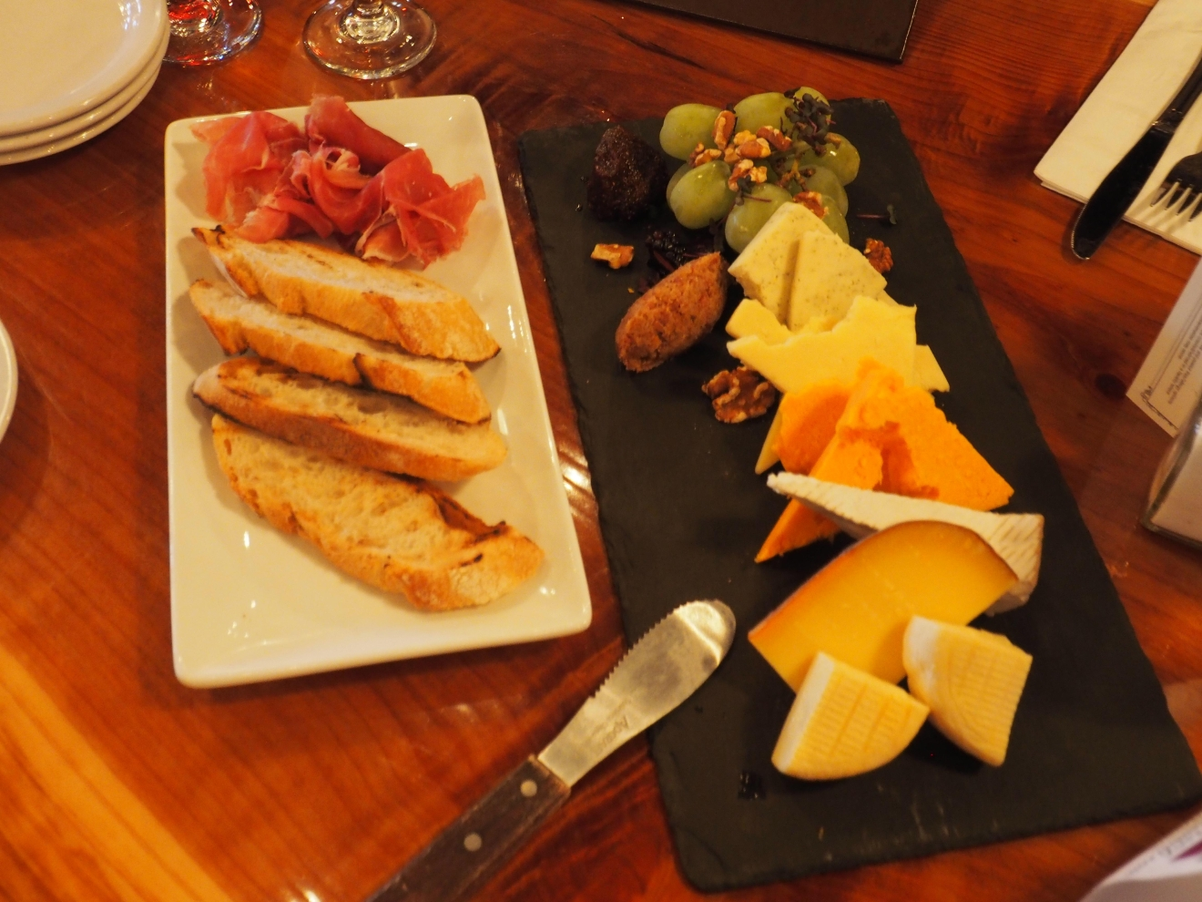 Cheese board at Kelly's Mercantile.  Literally, mouth watering! (Image: Kate Neidigh/Seattle Refined)