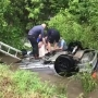 Driver rescued from overturned SUV in flooded Broken Arrow ditch