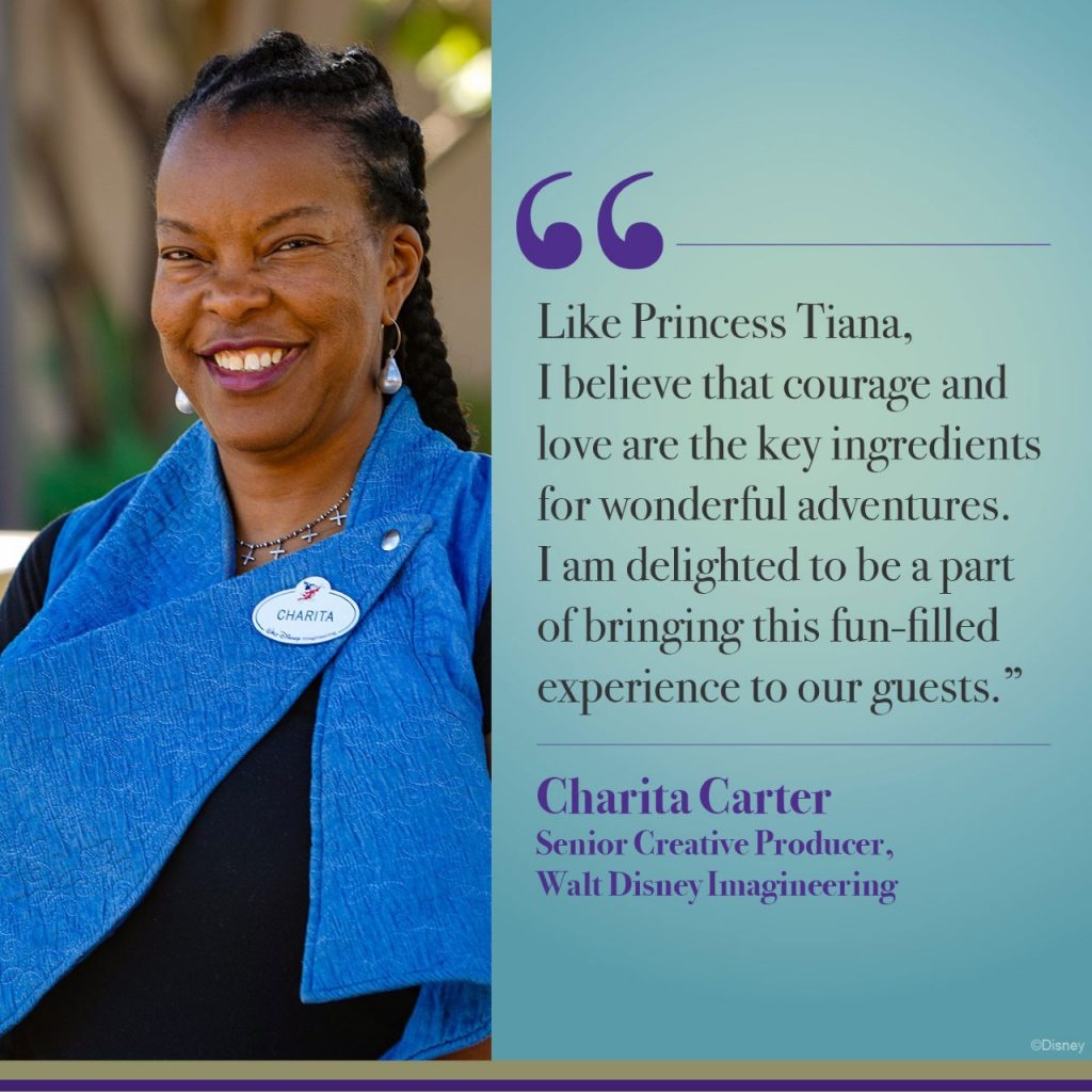 Quote from Charita Carter, senior creative producer at Walt Disney Imagineering. (Disney)