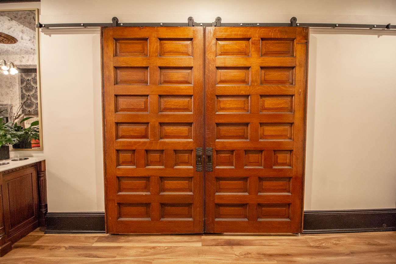 Refurbished antique doors from Wooden Nickel / Image: Katie Robinson, Cincinnati Refined // Published: 3.11.20