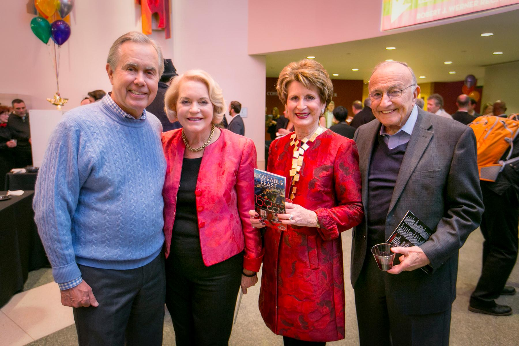Allen and Anne Zaring with Mona and Dick Kerstine / Image: Mike Bresnen Photography // Published: 1.20.18<p></p>