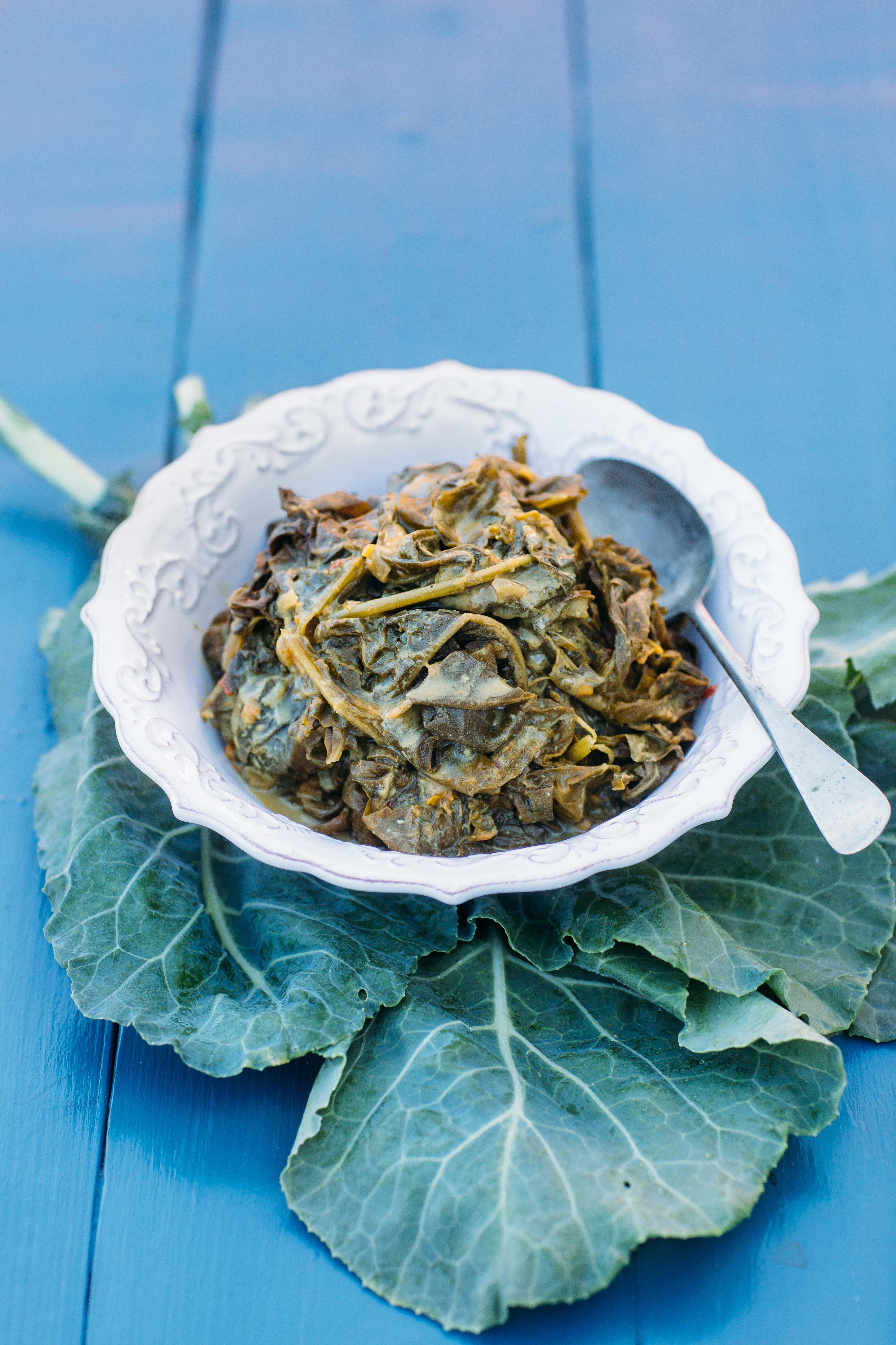 Collards Callaloo, made by Biscuit Head. (Photo credit:  Tim Robison Creative)