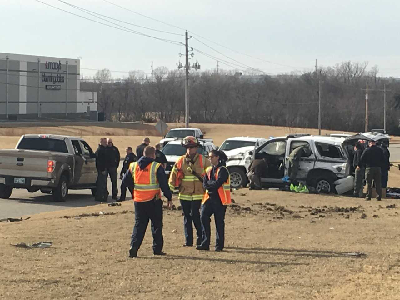 The crash happened around 1 p.m. near North Sheridan Road and East 76th Street North in Owasso. (KTUL)