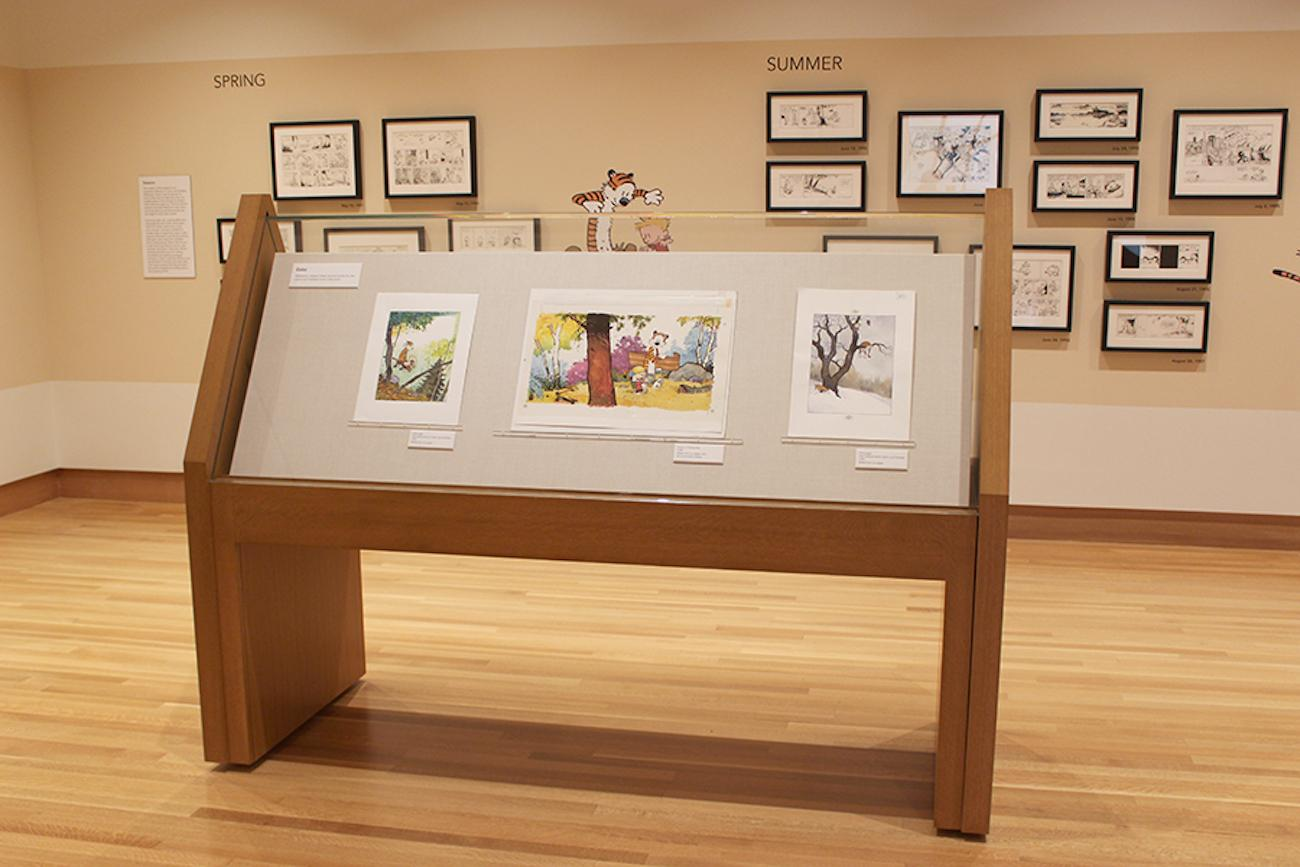 The 'Exploring Calvin and Hobbes' exhibit.{ }/ Image courtesy of Bill Ireland Cartoon and Library Museum // Published: 7.1.19