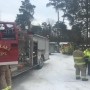 Propane tank explosion injures one, destroys shed