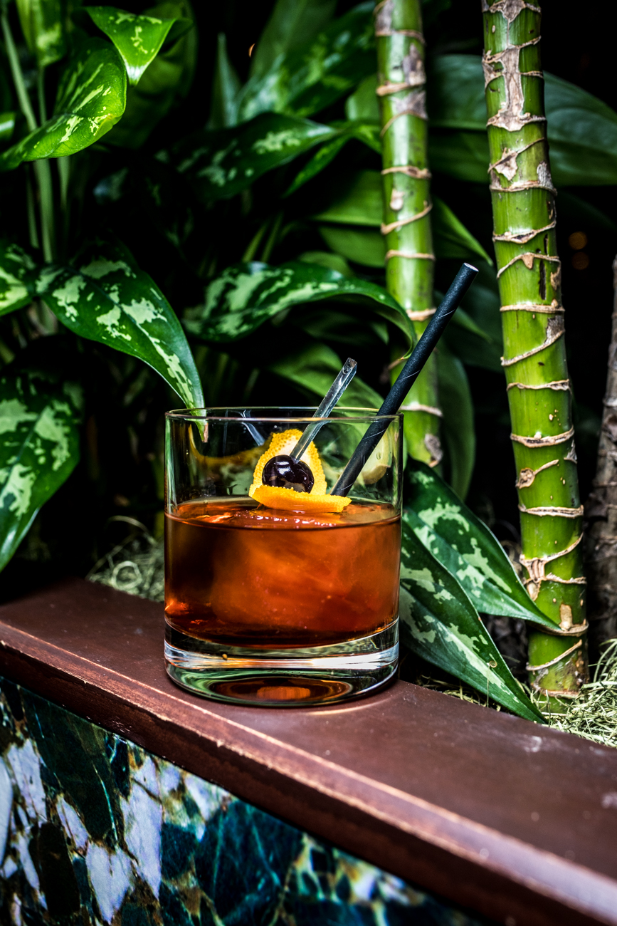 Chef's Old Fashioned from The Bar at Palm Court{ }/ Image: Catherine Viox // Published: 9.8.20