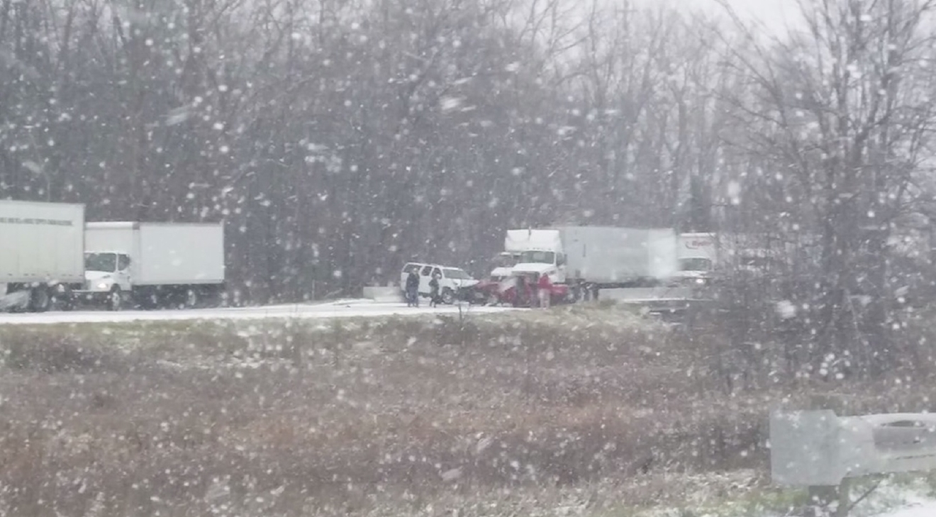 Up to 40 vehicles involved in deadly Michigan crash Thursday, December 8, 2016. (CNN Newsource)