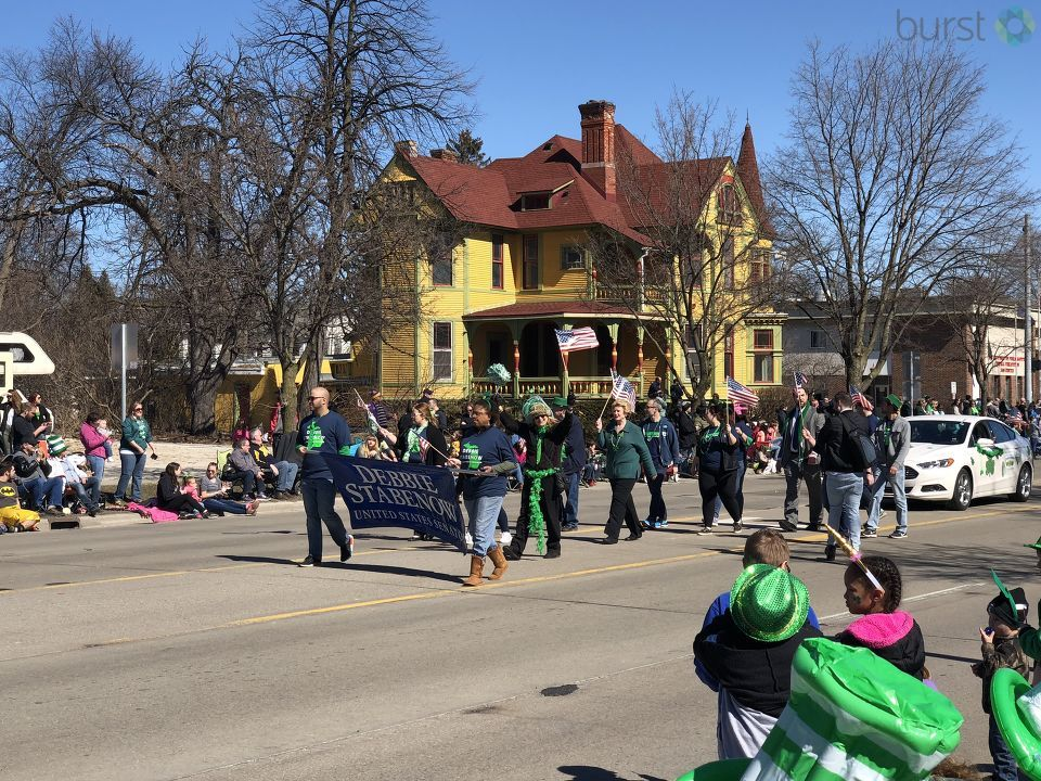 Thousands of people lined Center Avenue for the Bay City St. Patrick's Day Parade. (Photo Credit: Jasmyn Durham)