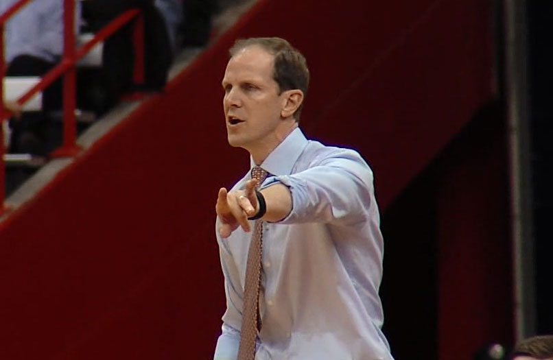 New University of Washington basketball coach Mike Hopkins seen during his time as assistant coach at Syracuse. (Photo: WSYR-TV)