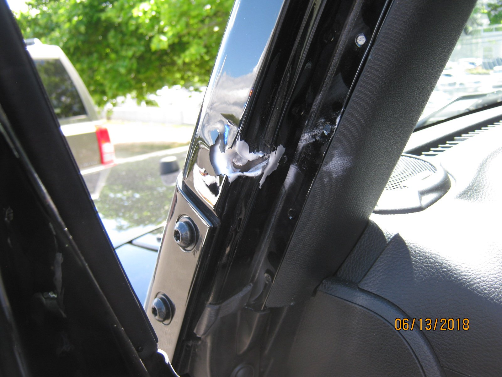 Troopers investigating a shooting that left 4 cars with bullet holes along SR-509 on June 13, 2018. (Washington State Patrol Photo)
