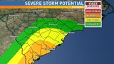 Chance for severe weather on Tuesday