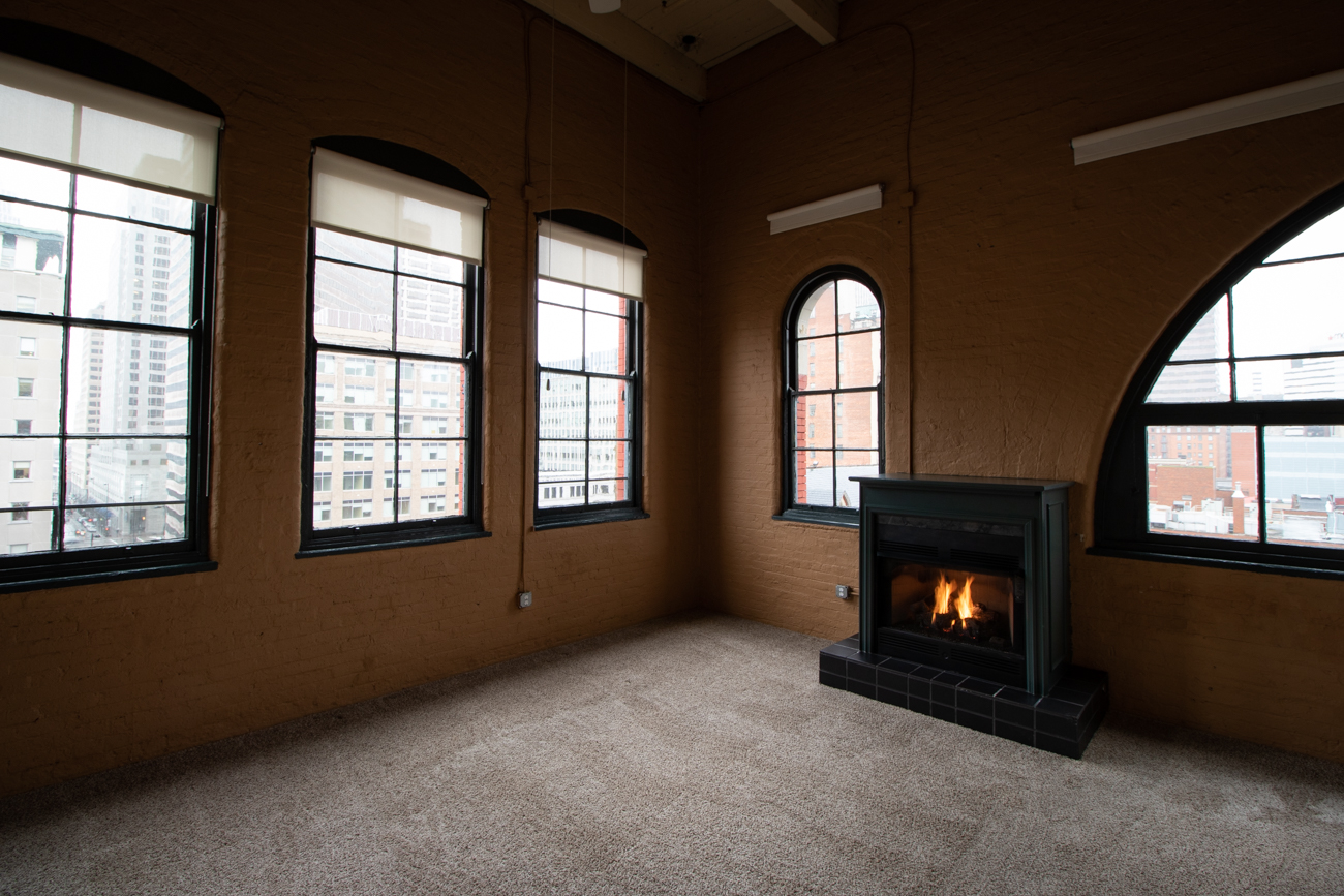 All Sycamore Place units feature a fire place. / Image: Ronny Salerno // Published: 2.6.19