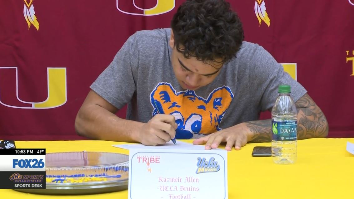 Kazmeir Allen signing ceremony for UCLA<p></p>