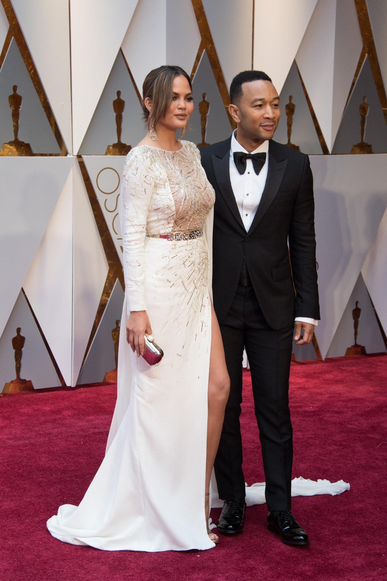 #34: Chrissy Teigen. We LOVE this couple, but this is not Chrissy or John's best Red Carpet moment. (Image: AMPAS)