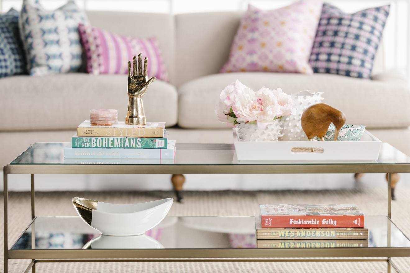 Go beyond the coffee table norm of books, flowers and trays with sculptural elements. (Image: Courtesy Havenly)