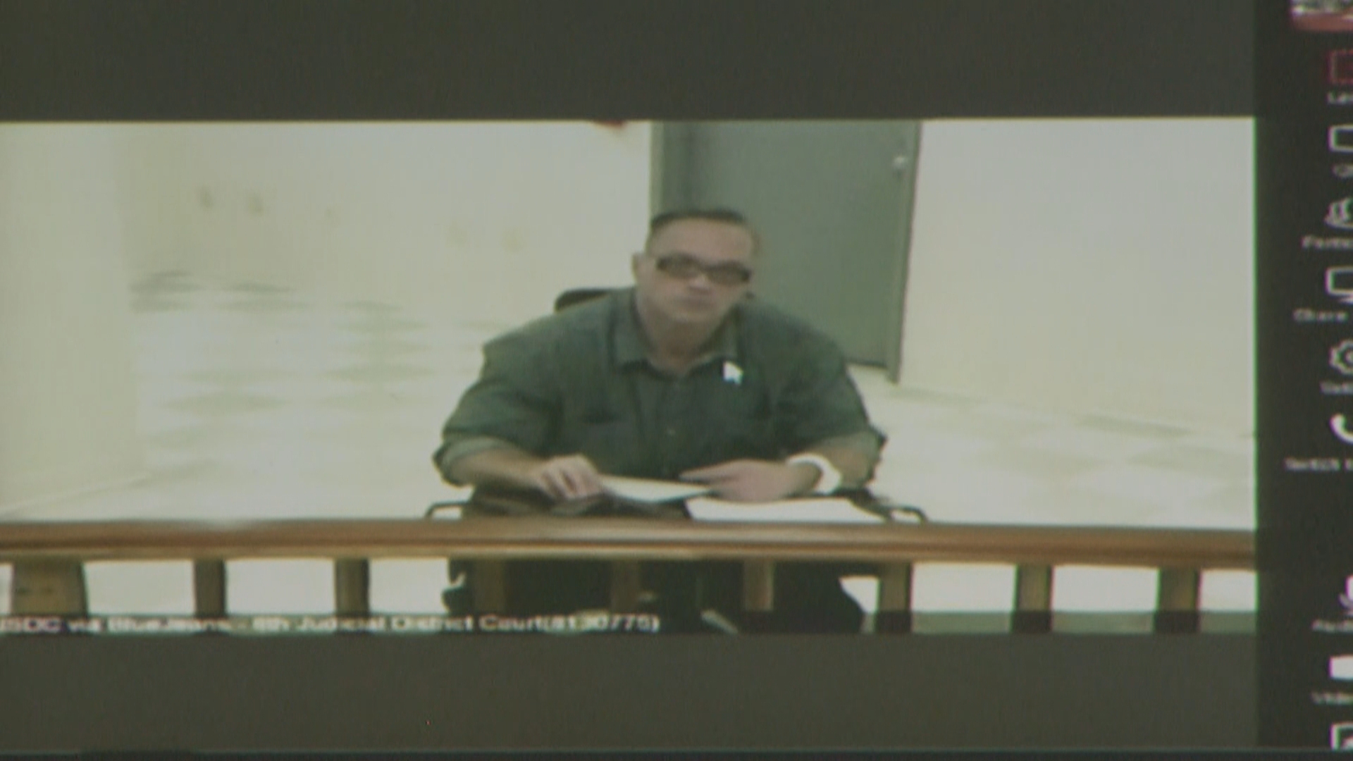 Scott Dozier appears via teleconference for his court hearing Wednesday, November 8, 2017, at the Regional Justice Center. (KSNV)