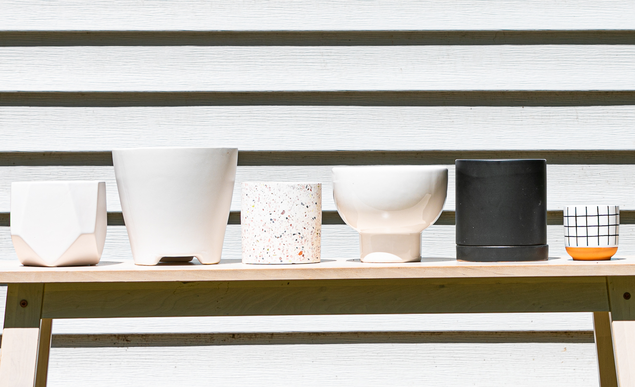 Pots in varying shapes, sizes, and designs are available, too. / Image: Amy Elisabeth Spasoff // Published: 7.5.20