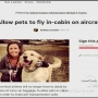 Woman starts petition to change FAA regulations on pets