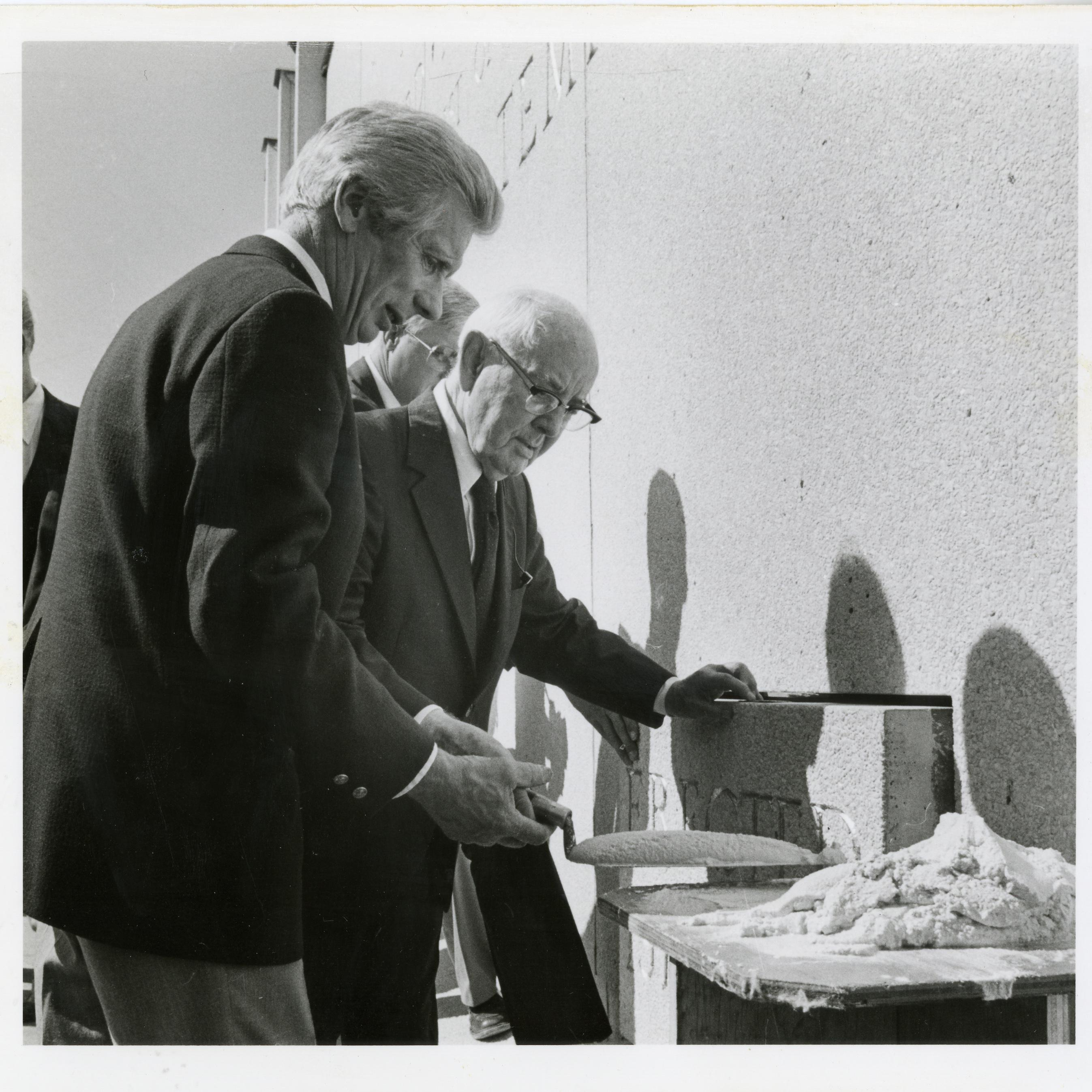 Church President Spencer W. Kimball, seals the cornerstone prior to dedicating the Jordan River Utah Temple in 1981. ©ALL RIGHTS RESERVED.
