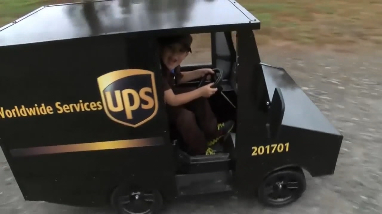 Five-year-old James won a small UPS truck. (Photo credit: ABC)