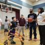 Yakima Sun Kings shoot hoops with Slug Bugs from Children's Village
