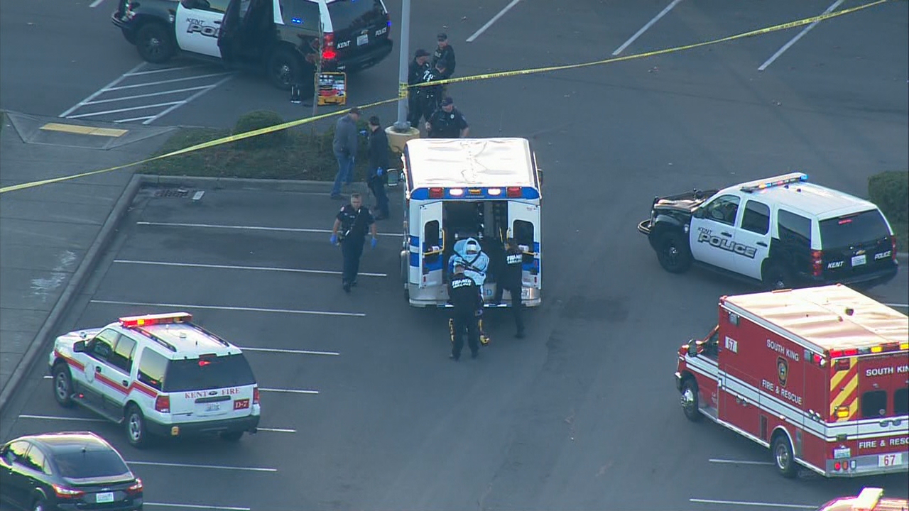 An undercover operation to bust an illegal gun seller turned into a shootout in Kent Friday evening. (Photo: KOMO News)