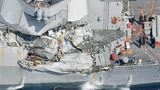 Senior officer on Navy ship that collided with container ship to be relieved of command