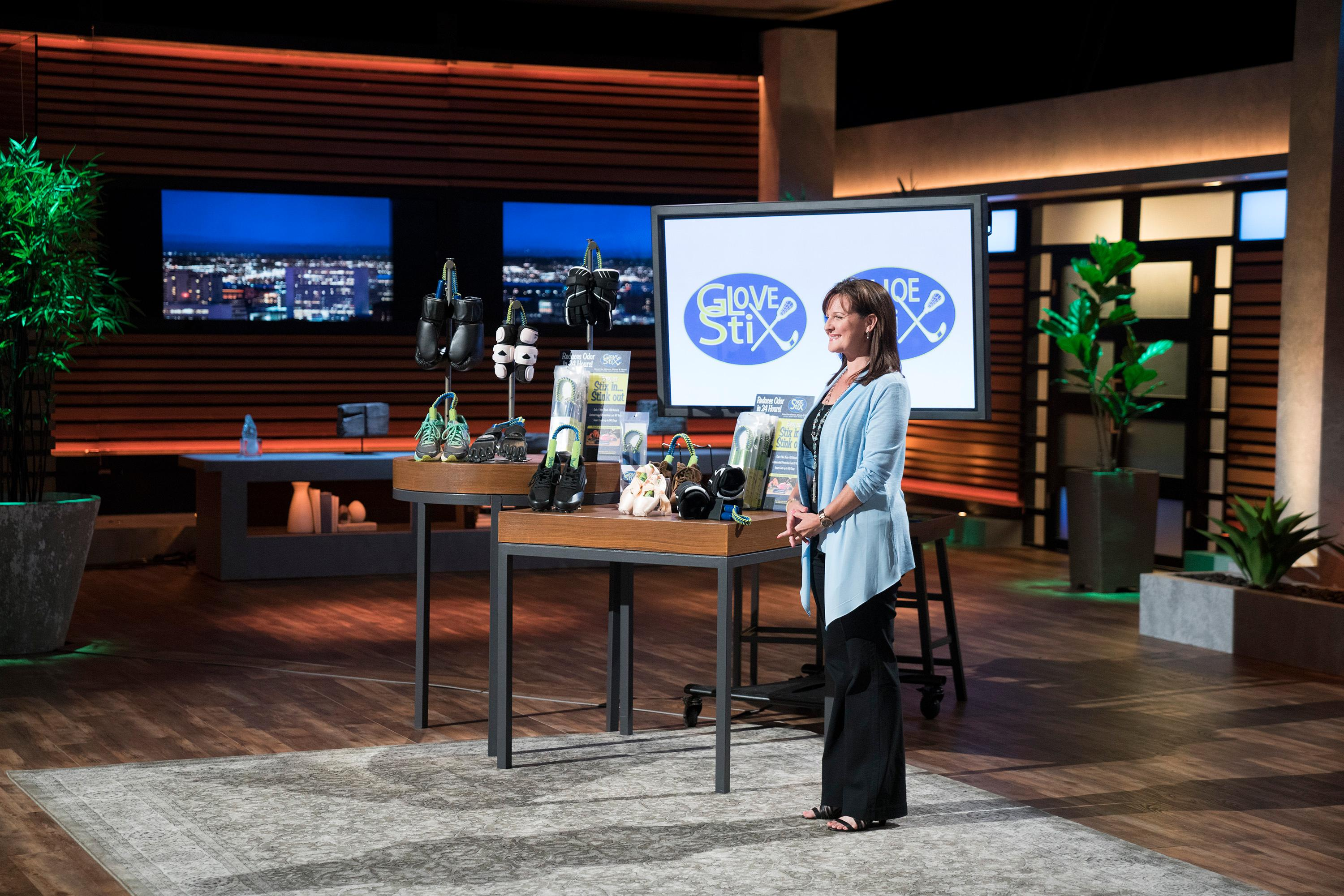 "The turning point for her business came when she won NBC's ""Next Big Thing"" competition on ""The Today Show"" and was invited to sell the product to a live audience on QVC the very next day. She sold out of her entire inventory, and available back orders, in 7.5 minutes. (Image: ABC/Michael Desmond)<p></p>"