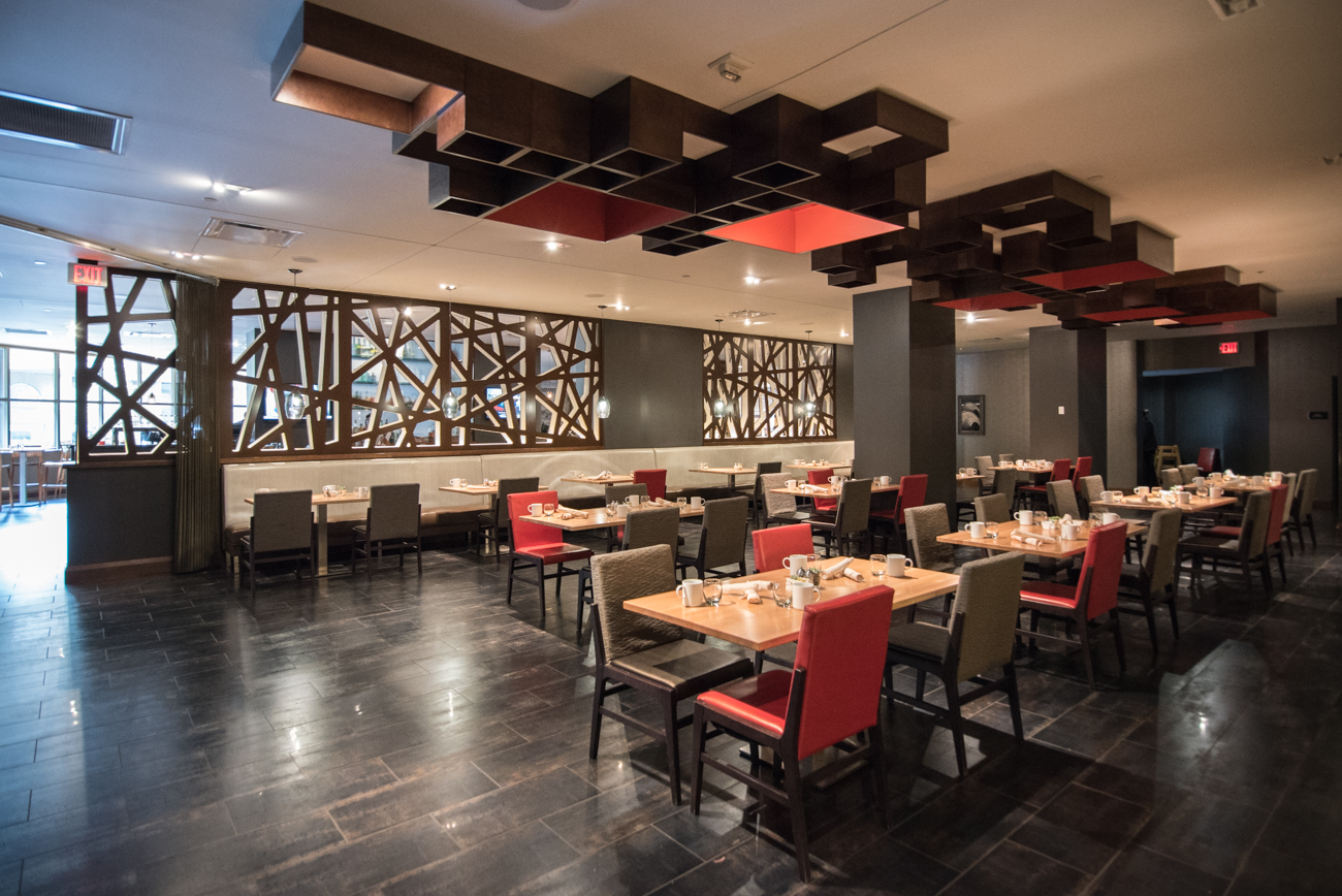 Red Roost Tavern is the New American restaurant located inside the Hyatt Regency Downtown. Meals consist of fresh, locally sourced ingredients organized and prepared by Chef Karol Osinski. It's open for breakfast, lunch, and dinner and features happy hour drink specials Monday thru Friday. ADDRESS: 151 W. 5th Street (45202) / Image: Phil Armstrong, Cincinnati Refined // Published: 9.9.17