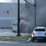 Caught on Camera: FedEx truck catches fire in Whitehall