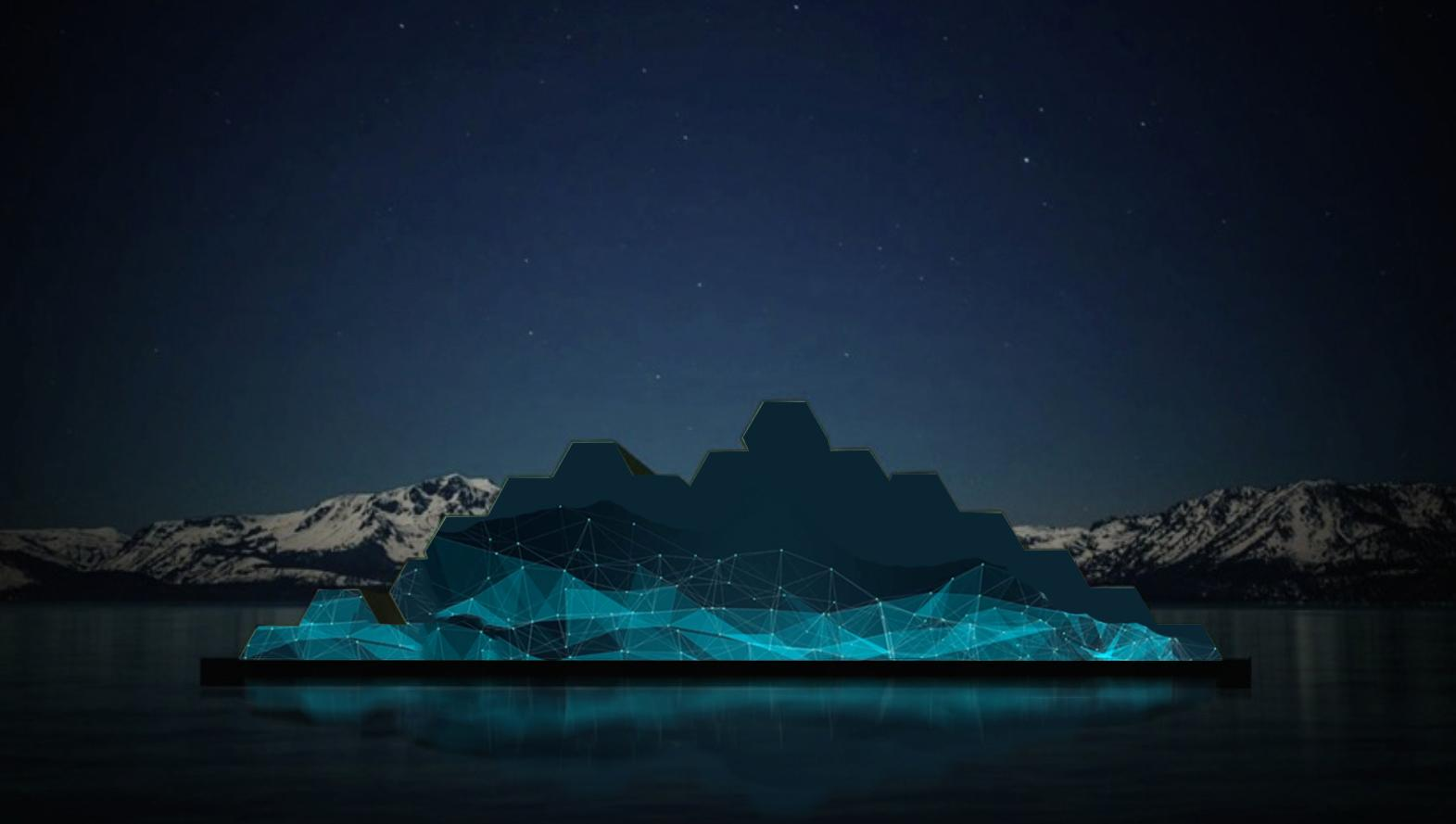 A rendering of the floating sculpture depicting the lake temperature and water clarity. (Courtesy: Tahoe Public Art)