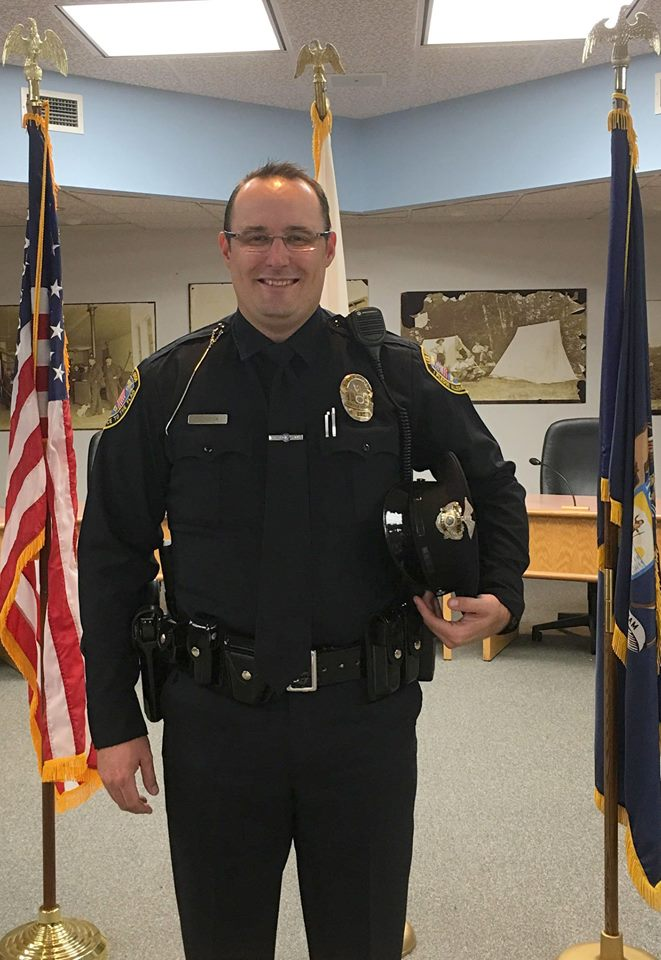 Officer Jon Culver was sworn into the Traverse City Police Department during a ceremony on Wednesday. (Photo Courtesy: City of Traverse City)