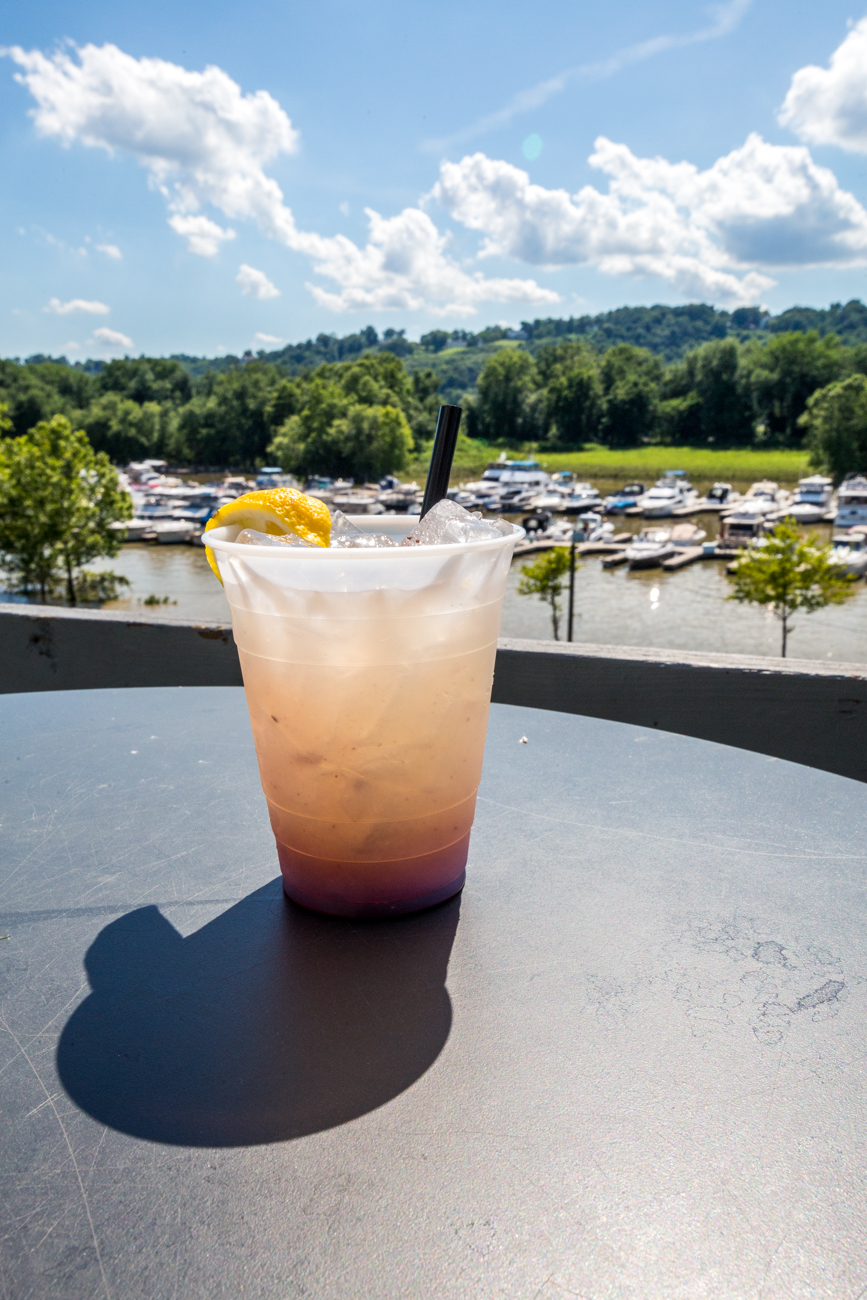 Bump, Set, Spike Lemonade from The Sandbar: citrus vodka, fresh lemonade, and blueberry puree / Image: Catherine Viox // Published: 7.18.19