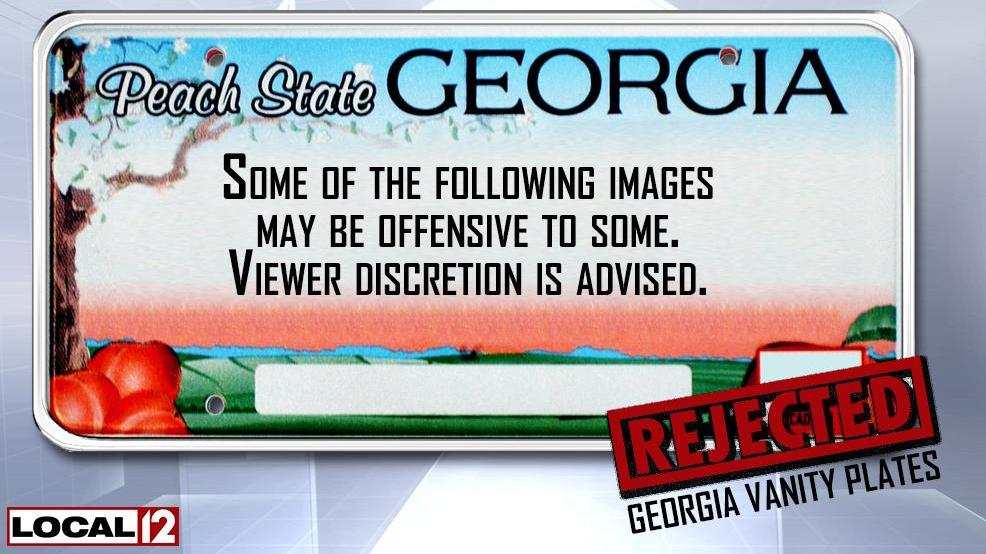 R3JECTD: Georgia vanity plates denied for the road