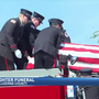 Funeral procession for fire chief