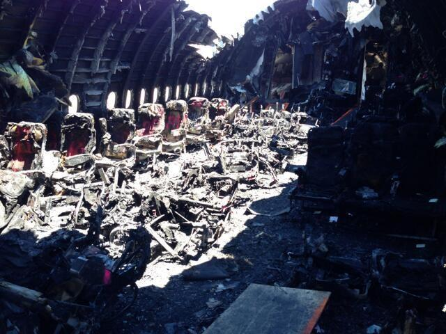 This is the carred cabin of Asian flight 214.
