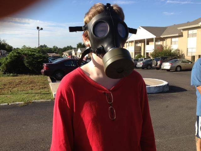 "Zachary S. Harnden lives at the Ambassador House. He says he called 911 and ""quickly grabbed my gas mask."""