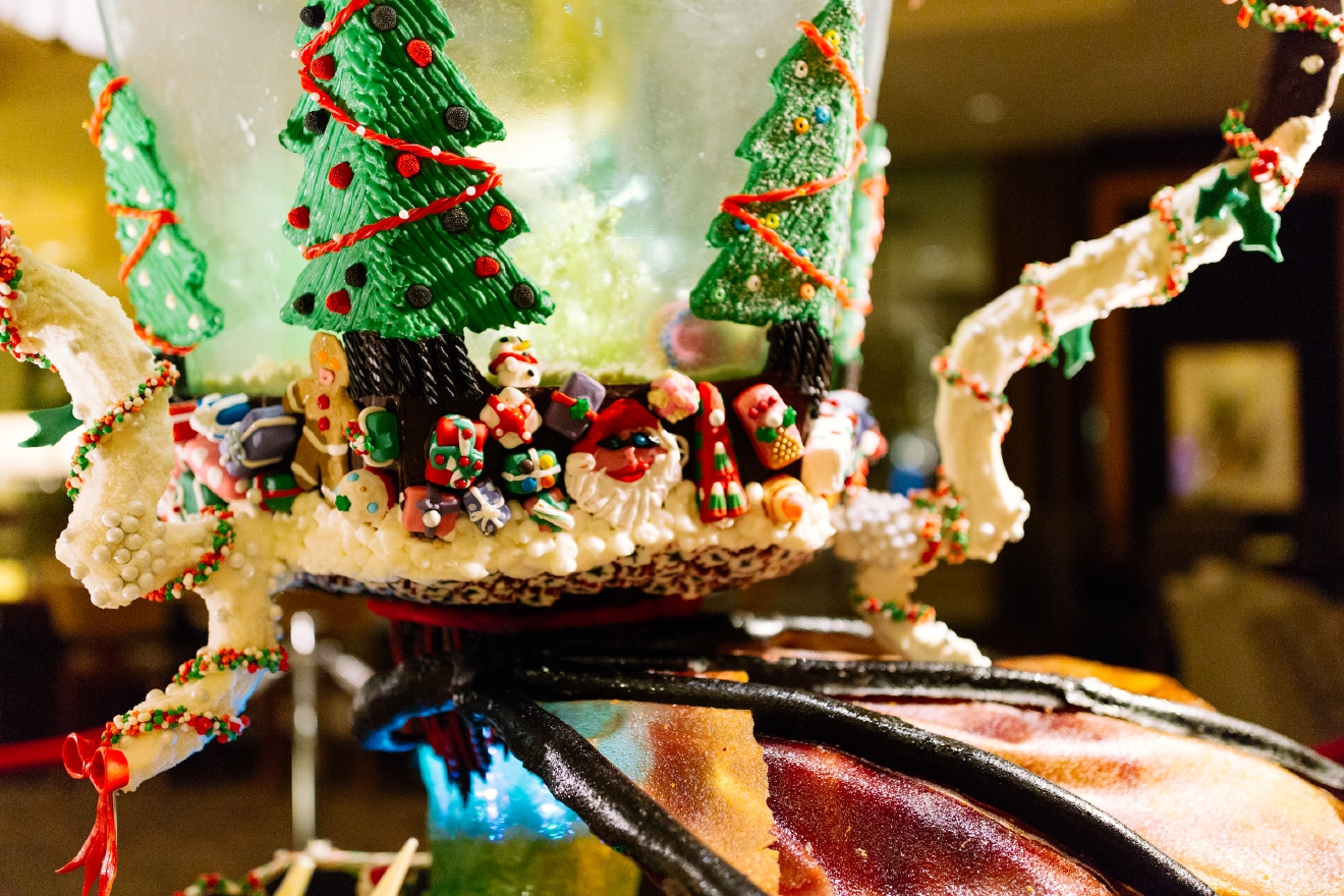 Each year the Sheraton Hotel culinary team and top local architecture firms and builders' association design, and bake larger than life gingerbread exhibit. The event is open 24/7 and is free to the public, with donations benefitting the JDRF Northwest Chapter.  This year marks the 24th Annual Gingerbread Village with creations inspired by scenes from your favorite wizarding world, Harry Potter. The Gingerbread Village will be featured in the Sheraton Seattle Hotel's lobby from November 22, 2016 through January 1, 2017. Visitors will have the chance to vote for their favorite concept throughout the duration of the holiday season. (Image: Joshua Lewis / Seattle Refined)