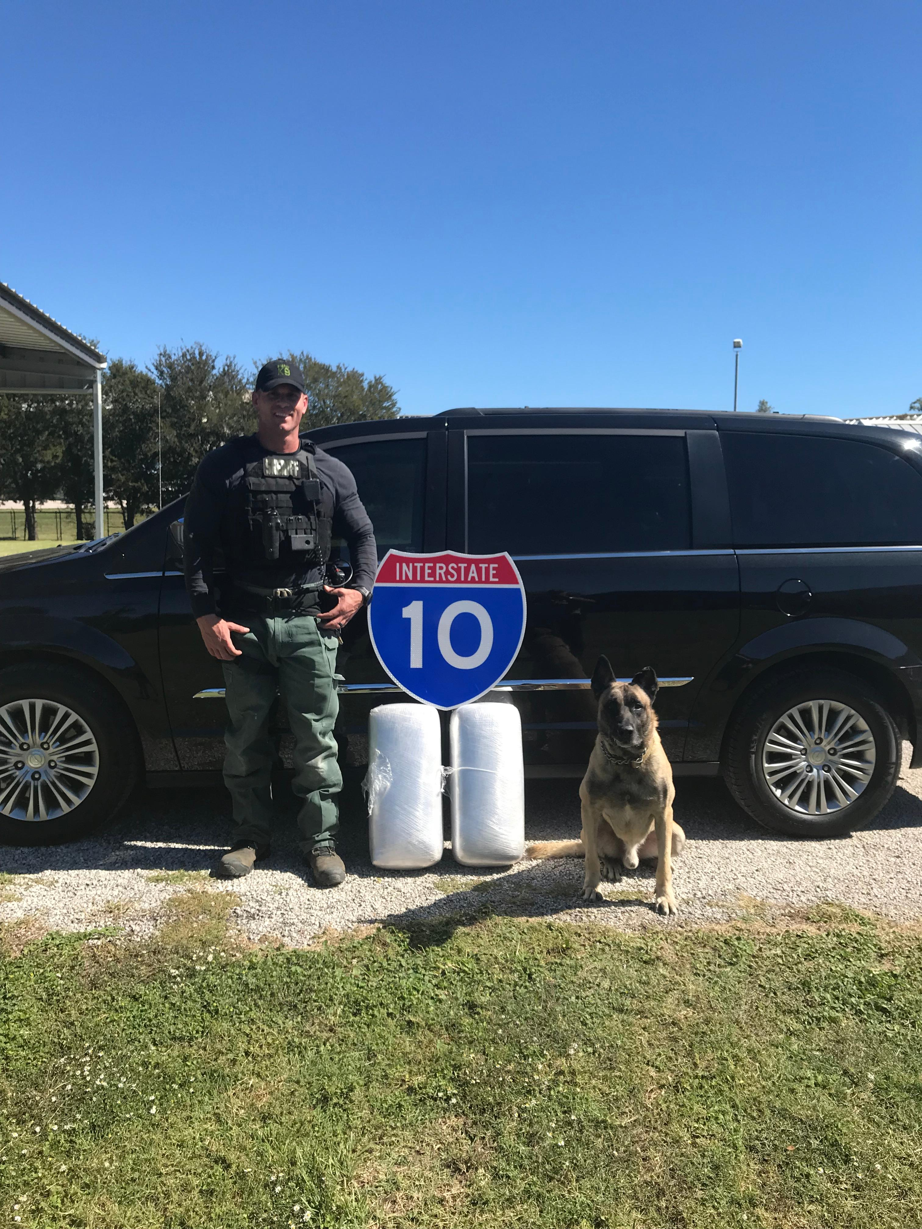 Sgt. Randy Thumann and K9 Lobos of the Fayette County Sheriff's Office. (Photo courtesy: Fayette County Sheriff's Office)