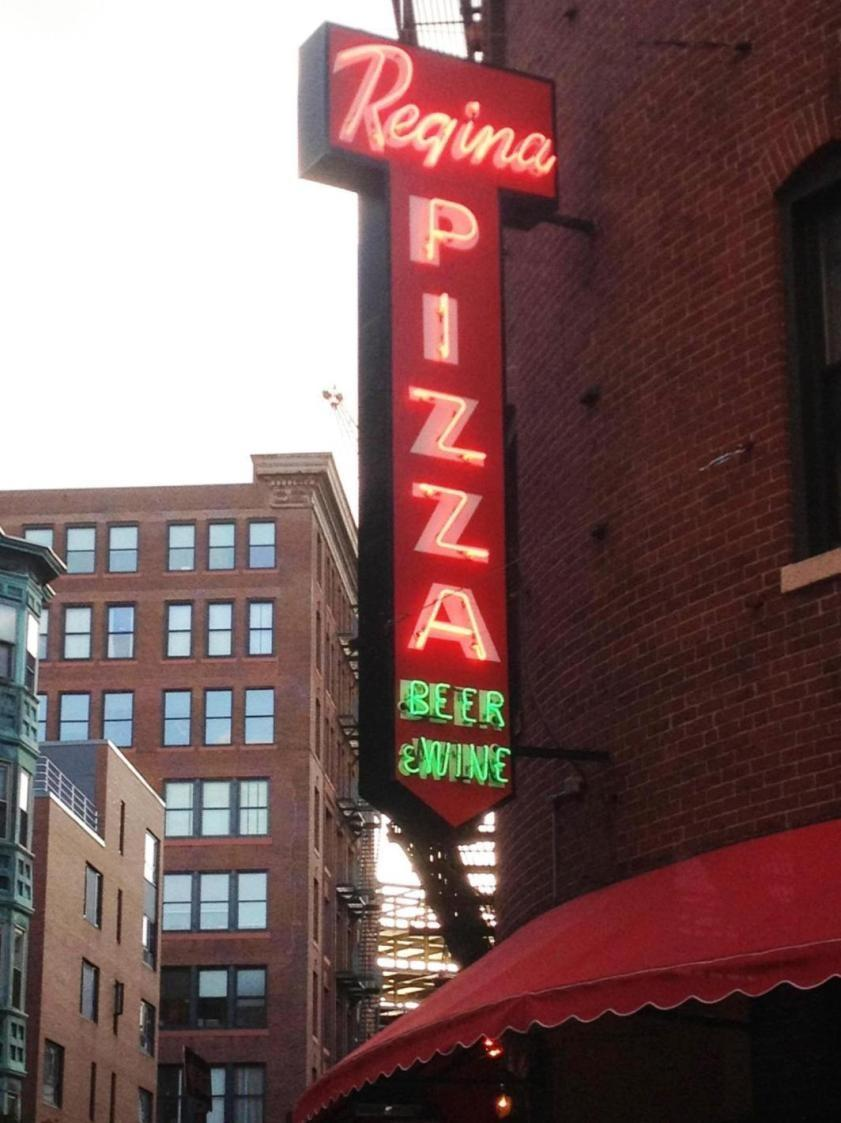 Beantown visitors can enjoy Regina Pizzeria located in the Italian North End where the flavors and golden crusts are made from an 80-year-old family recipe.
