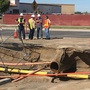 Broken water line causes large sinkhole near Coffee Road