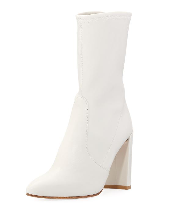 <p>Stuart Weitzman, Clinger Stretch Ankle Boot, $598, can be purchased at Neimanmarcus.com (Image: Courtesy Neiman Marcus)</p>
