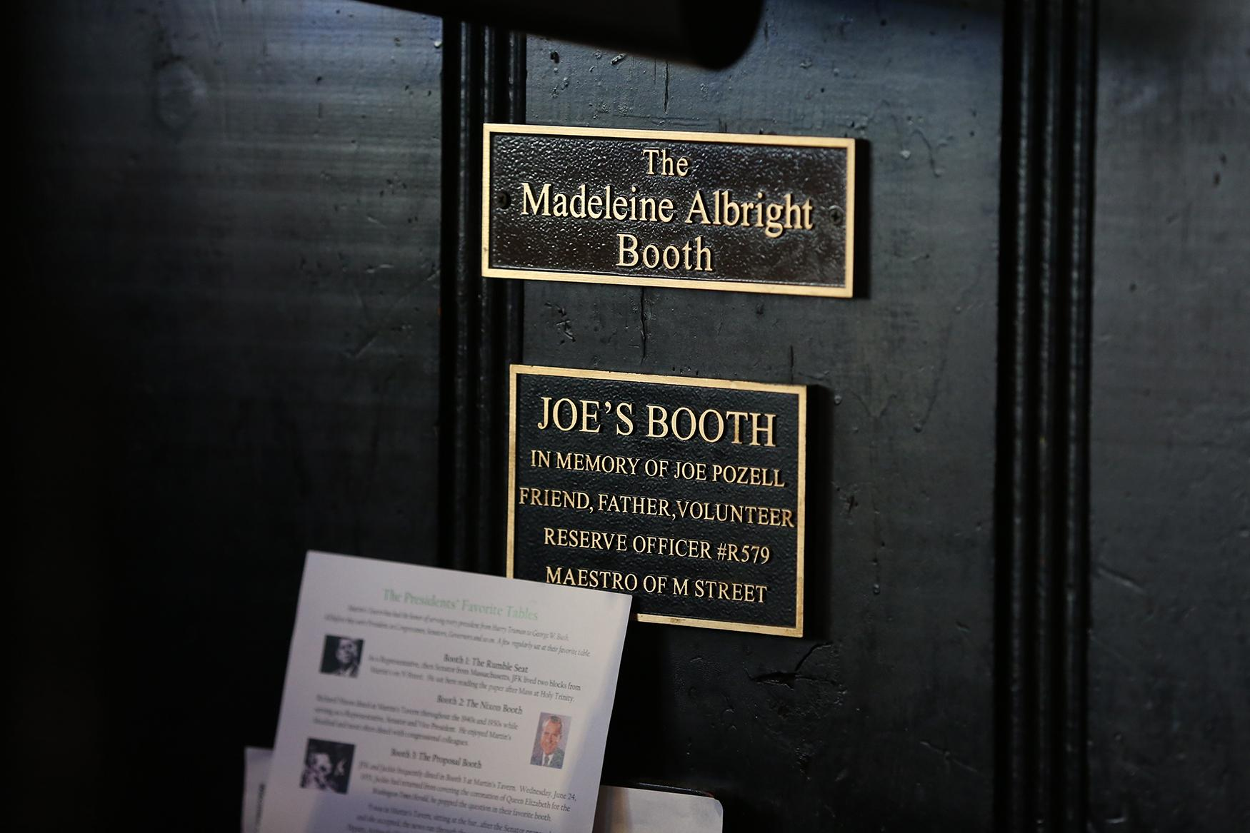 Some of the booths are dedicated to their famous patrons, but they also pay tribute to local heros.{ }(Amanda Andrade-Rhoades/DC Refined)